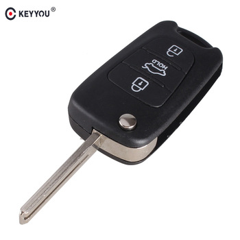 chiave telecomando per Hyundai 3 Tasti Flip Folding Remote Car Key Shell Cover Case With Hold Button