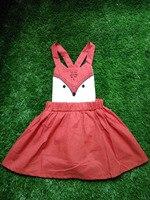 2016 Girls Summer Dress Sweet Toddler Baby Kids Fox Dress Casual Fashion Animal Dresses Orange Spring