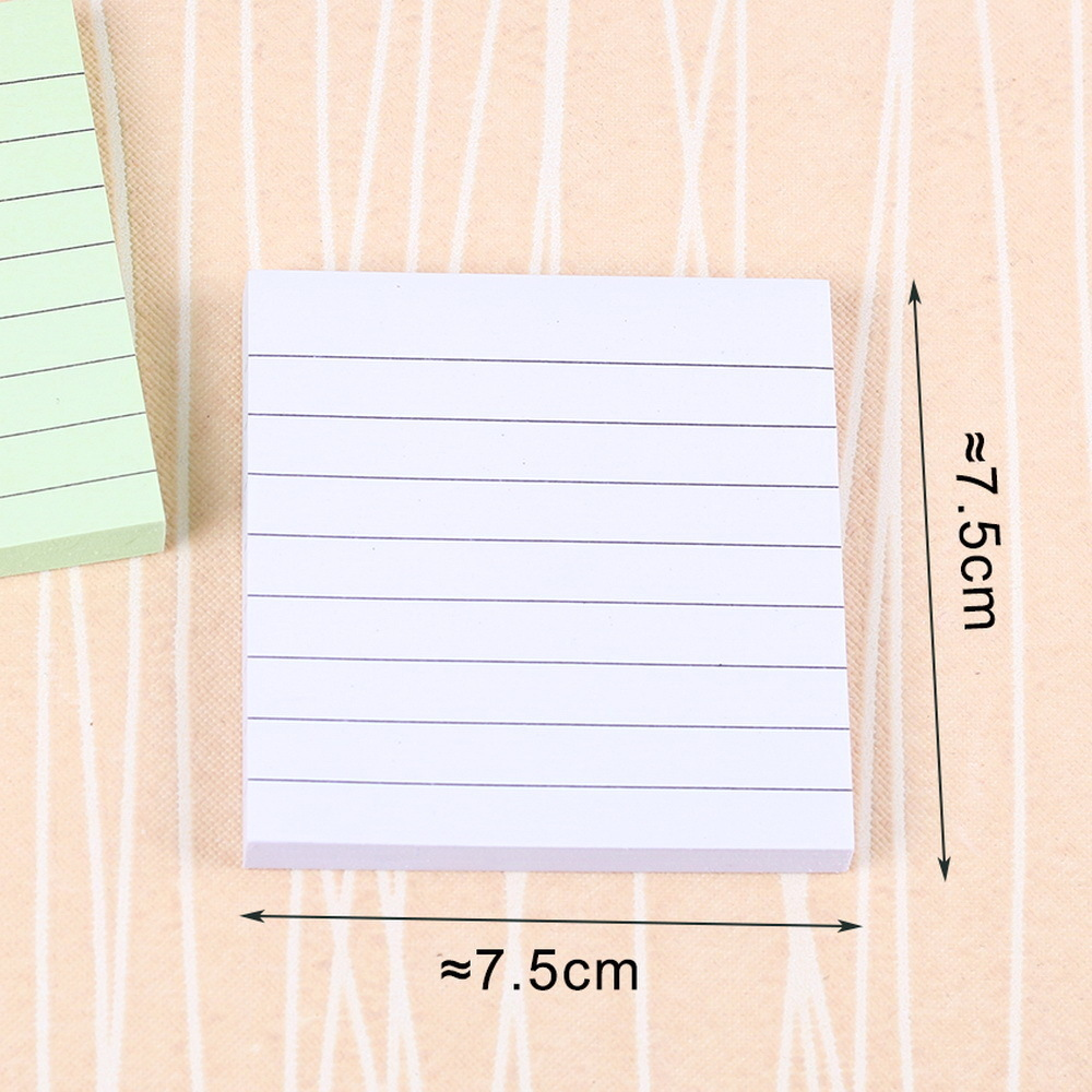 Office Stationery Sticky Notes Square Soild Color Memo Pad 80 Pages Sticker Post It Bookmark Point It Marker Memo Sticker Paper