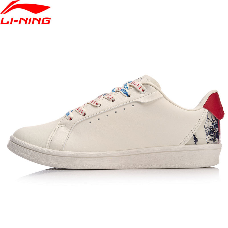 Li-Ning Women X Russian Artists Collection Lifestyle Shoes Graphic Print LiNing Li Ning Sport Leisure Sneakers AGCN408 YXB300