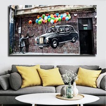 Banksy Street Graffiti Wallpaper Canvas Painting Print Bedroom Home Decor Modern Wall Art Oil Poster Picture Artwork HD