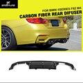 F80 f82 m3 m4 p-car styling auto de fibra de carbono difusor traseiro lip spoilerfor bmw f80 f82 m3 m4 bumper 2014-2015