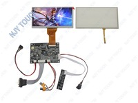 New 7inch TFT AT070TN92 800x480 LCD Screen VGA 2AV Reversing LCD Driver Board Touch Panel Kit