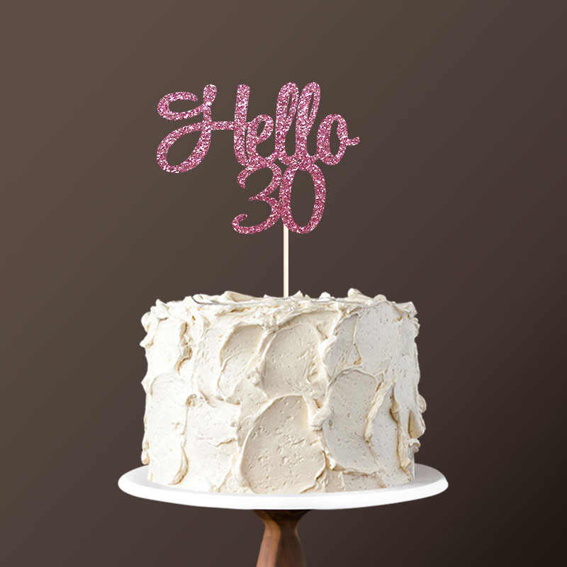 Astounding Hello 30 Cake Topper 30Th Birthday Party Decorations For Thirty Personalised Birthday Cards Paralily Jamesorg