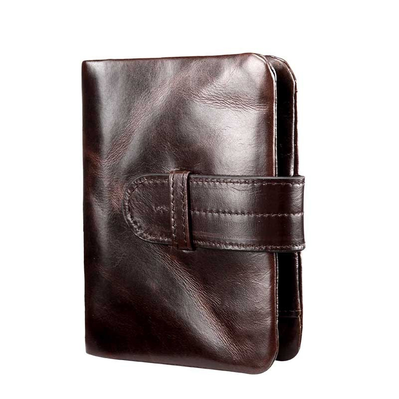 Vintage Men Wallets Short Genuine Leather Men Wallet Solid Coin Purse Card Holders Coin Pocket Male Bag High Quality Wallet Men