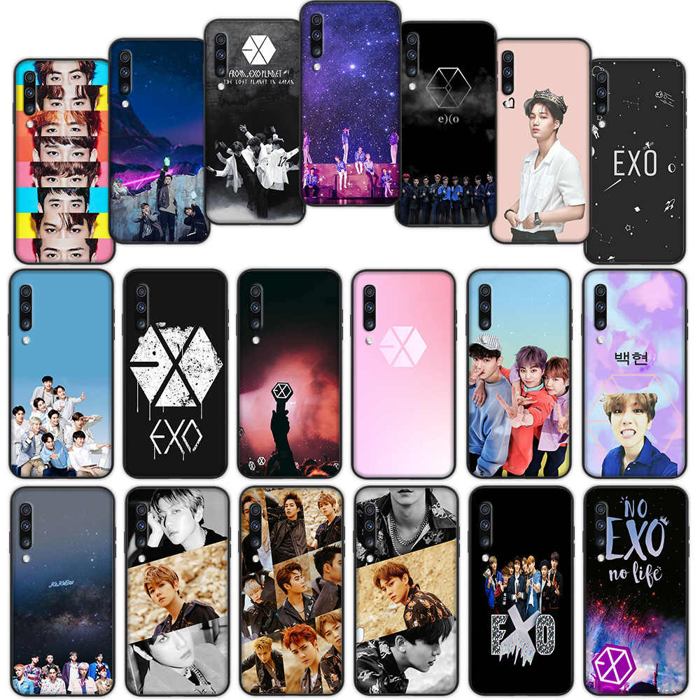 Kpop EXO Luxury Soft Cover Case for Samsung Galaxy A50 A6 Plus A7 A8 2018 A5 A9 A10 A30 A40 A70