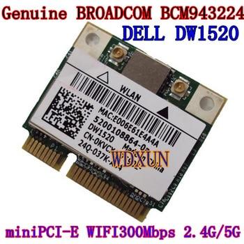 MINI PCI-E tarjeta WIFI DW1520 BCM4322 inalámbrico AGN Broadcom BCM94322HM8 Lfor DELL