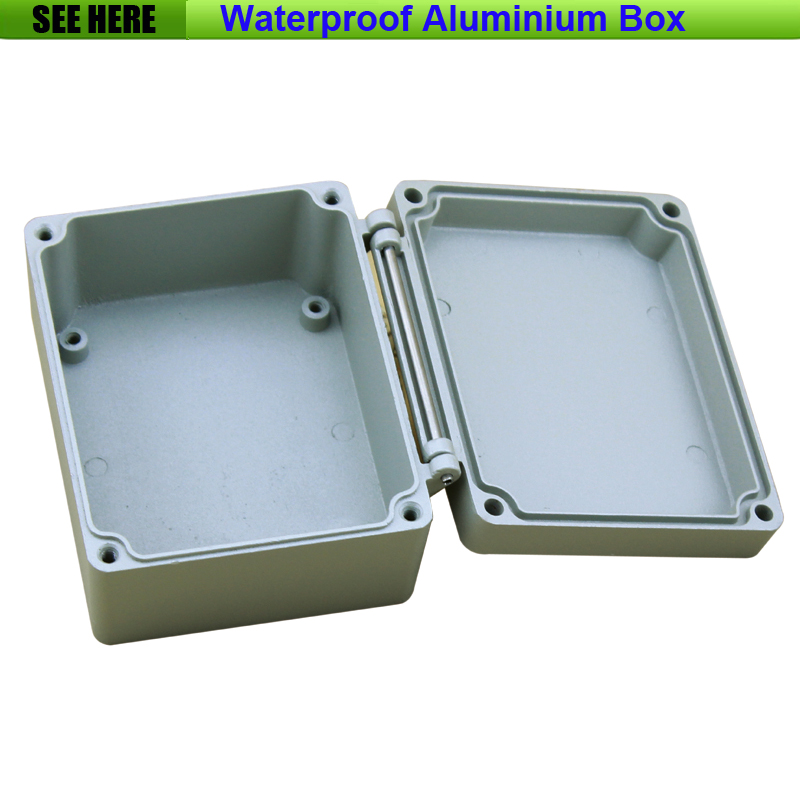 Free Shipping 1piece /lot Top Quality 100% Aluminium Material Waterproof IP66 Standard electrical aluminium box 115*90*60mm 2015 ip66 electrical aluminium enclosure waterproof box 300 210 130 with 4 screws