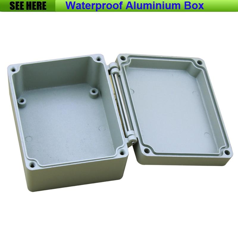 Free Shipping  1piece /lot Top Quality 100% Aluminium Material Waterproof IP67 Standard electrical aluminium box 115*90*60mm falmec quasar top parete 90 ix 800