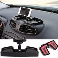 Universal Black Car Inner Dashboard GPS Phone Holder Stand Stretching Rotate ABS 105 Mm Storage Bracket