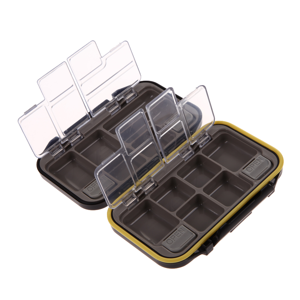 Fishing Tackle Box Waterproof Fishing Lure Spoon Hook Bait Tackle Storage Box Case With 12 Compartments Eco-Friendly