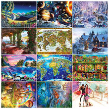 Grownup 1000 pieces Romantic Date Thicker Puzzle Landscape Cartoon Adult jigsaw Puzzles 1000pcs For Valentine's Day Toys Gifts the grownup
