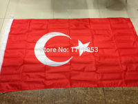 Free Shipping 3ft X 5ft Hanging Flag Polyter Turkey National Banner Outdoor Indoor 150x90cm Big Flag