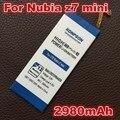 2980 mah para zte nubia z7 mini accesorios de reemplazo de la batería para zte nubia z7 mini nx507j 5.0 pulgadas li3823t43p6ha54236-h