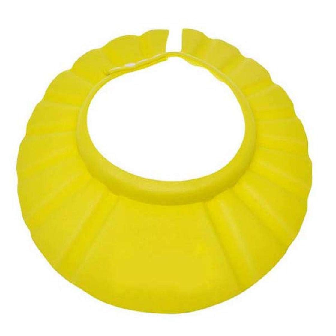 Lightweight Bathing Protection Cap Adjustable Safe Shampoo Shower Protective Hat For Baby Kids Yellow Colorful image