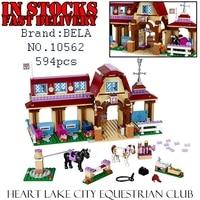 Bela Girls Friends 10562 594pcs Heartlake Riding Club Building Block Brick Enlighten Toys For Children Gift