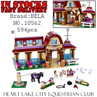Bela Girls Friends 10562 594pcs Heartlake Riding Club Building Block Brick Enlighten Toys For Children Gift