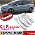 Для Citroen C4 Picasso SpaceTourer MK2 2014 ~ 2019 хромированные дверные ручки крышки наклейки на автомобиль отделка набор 2015 2016 2017 2018