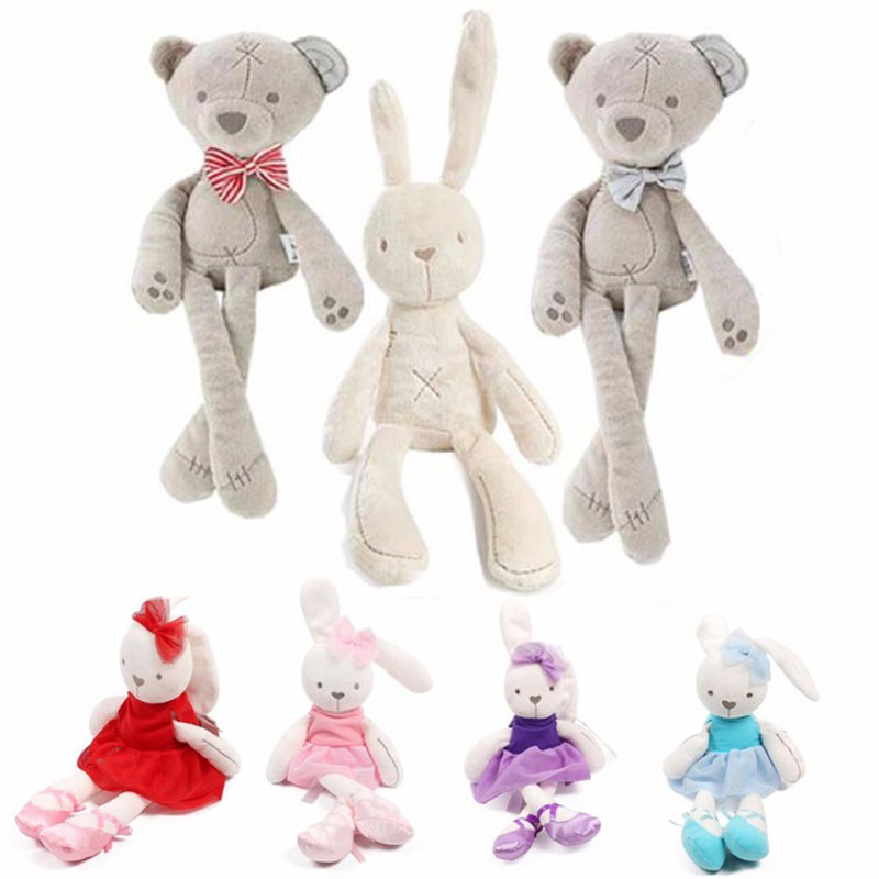 Baby Soft Plush Rabbit Bunny & Bear Sleeping Mate Stuffed & Plush Animals Toys G0306