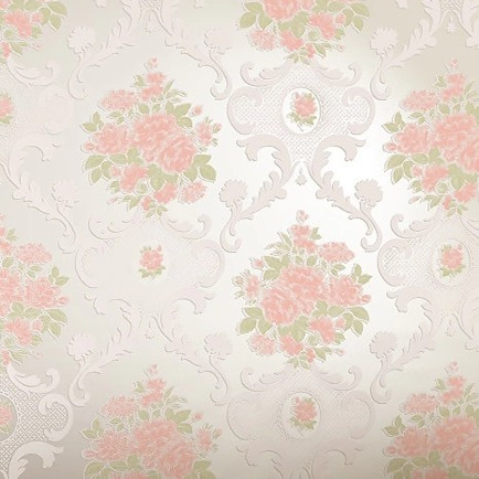 Floral Damask Wallpaper Roll Papel De Parede Floral Vermelho Pink Yellow  Purple Flower Home Decor Mural Wallpapers In Wallpapers From Home  Improvement On ...