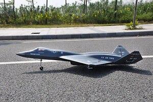 Escala Skyflight YF23 Black Widow ARF RC Jet avión, modelo doble EDF Metal Retracts TH03134