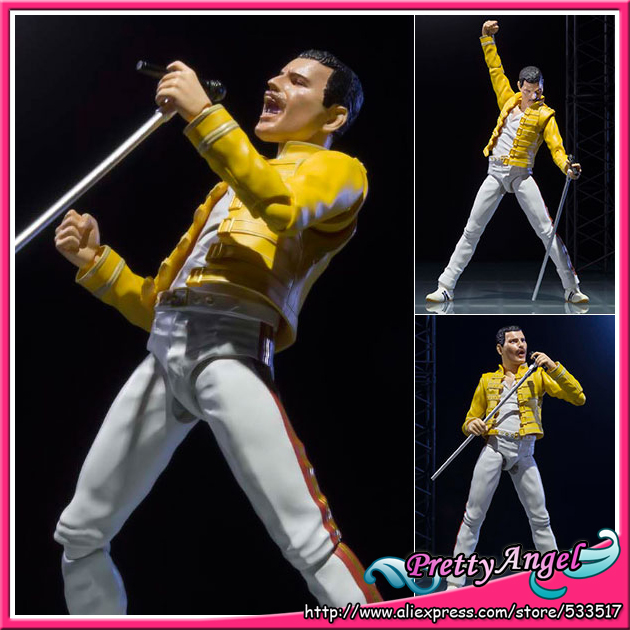 PrettyAngel - Genuine Bandai Tamashii Nations S.H.Figuarts <font><b>Freddie</b></font> <font><b>Mercury</b></font> Live at wembley stadium <font><b>Action</b></font> <font><b>Figure</b></font> image