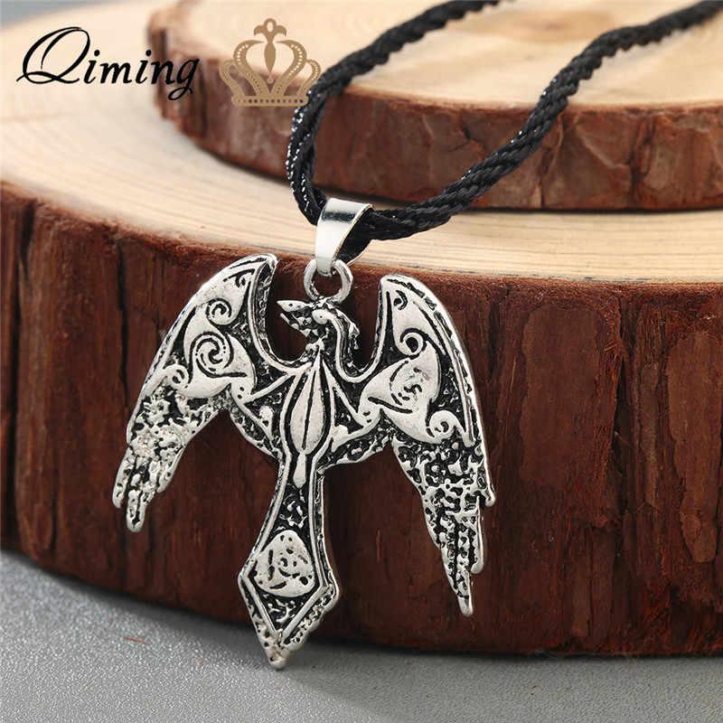 """Norse oświadczenie Viking naszyjnik mężczyzn """"pogańskich biżuteria wilk Axe młotek Thor Amulet Symbol słowiańskich Punk w stylu Vintage kobiety naszyjnik prezent"""