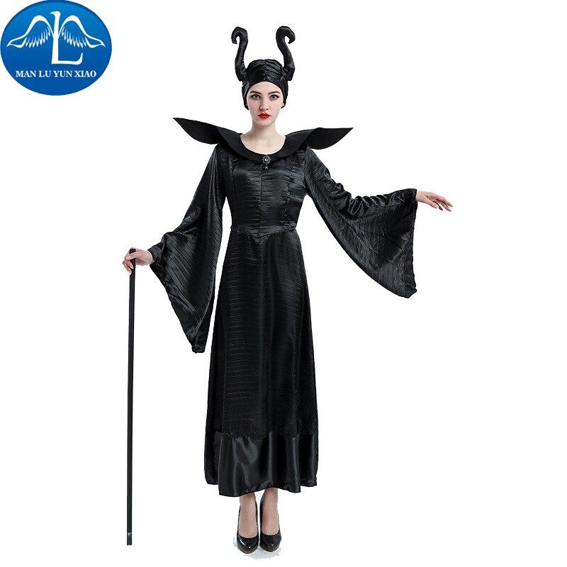MANLUYUNXIAO Maleficent Costume Maleficent Cosplay Costume Maleficent Dress Halloween Costumes For Women With Headwear Dress