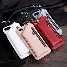 Для iphone7plus мобильного телефона из натуральной кожи для apple6 6 S 6S плюс талии кронштейн молнии бумажник защиты рукава