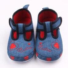 Новое Прибытие Красивый Узор Сердце Дизайн Крюк и Петля Prewalker Девочка Повседневная Обувь Для 0-15 М