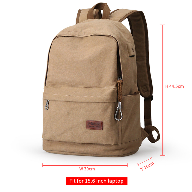 66baf733fa4 Home   2017 Men Male Canvas Backpack College Student School Backpack Bags  for Teenagers Vintage Mochila Casual Rucksack Travel Daypack