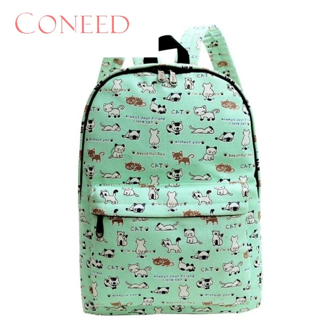 Charming Nice CONEED Best Gift Women Backpacks Cnvs School bag Printing School Backpackss Shoulder bags Y35