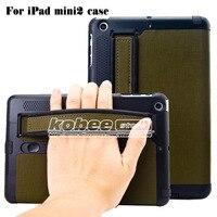 Superior Lederen Case Voor Ipad Mini 2 Retina Met Arm Band Luidspreker Smart Cover, Luxe Flip Case voor iPad MiNi Retina 1 STKS