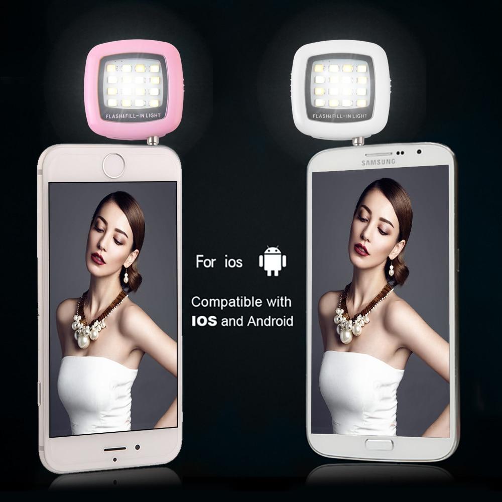 Nov mini LED luč Selfie Flash Light Selfie Fill Light prenosni 3,5MM - Kamera in foto - Fotografija 4