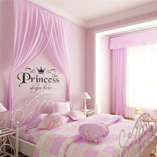 Wall sticker decor for princess room