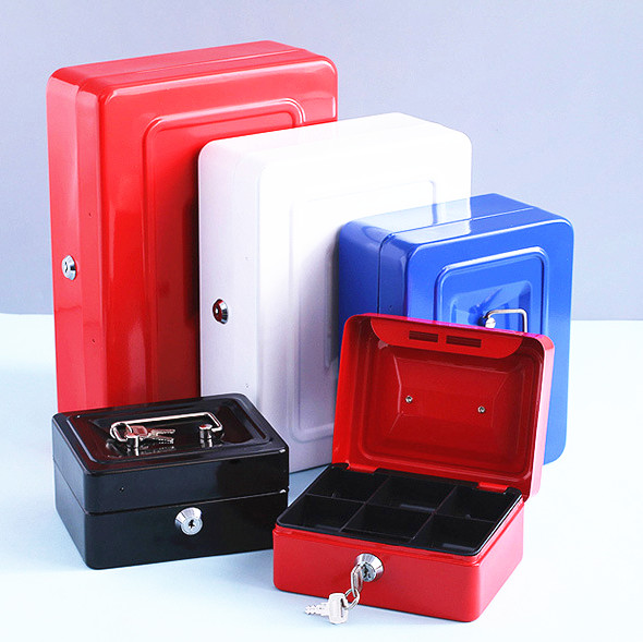 20x16x9cm Portable Metal Office Storage box Bank Money Box Saving Coin Money Box Safe Coin Money Box for Kids Toy Birthday Gift