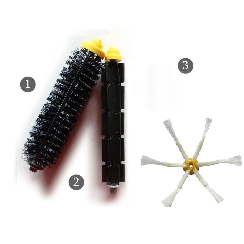 Nouveau Flexible Poils Brosse 6-armés Side Brush Set pour iRobot Roomba 600 700 Série 620 630 650 660 760 770 780