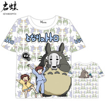 Anime My Neighbor Totoro T-shirt Men Women Short Sleeve Summer Tops Unisex Cartoon t shirt