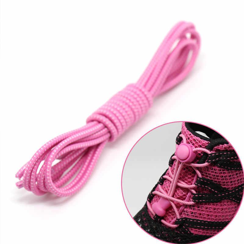 No - Tie Shoelaces รองเท้าผ้าใบ Self - Locking Shoelaces ยืดหยุ่นรองเท้าสำหรับเทรนเนอร์ Runner สีสารพัน