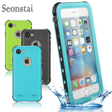 For iphone7plus Shockproof Dustproof Swimming Diving Waterproof Case Apple iPhone 7 Hard Phone Bag Shell Outdoor Cover