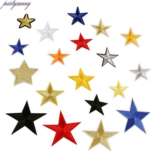 PF 18 unids/lote Estrellas Parches Bordados Multicolor ...