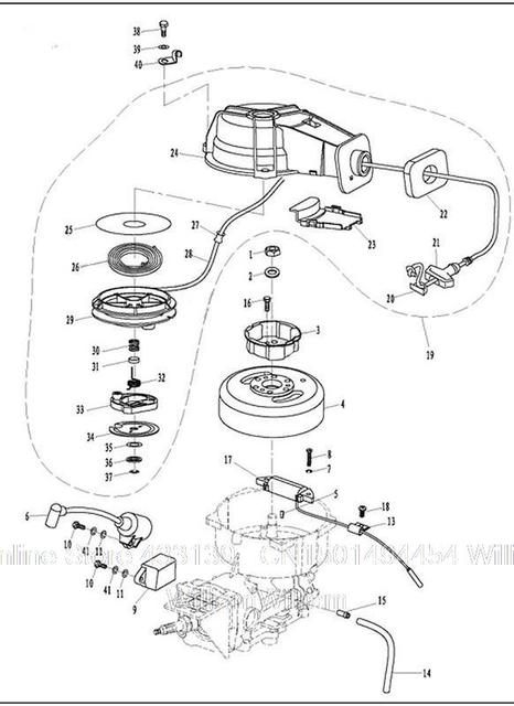 Free shipping parts for Parsun outboard motor 2 stroke 3.6
