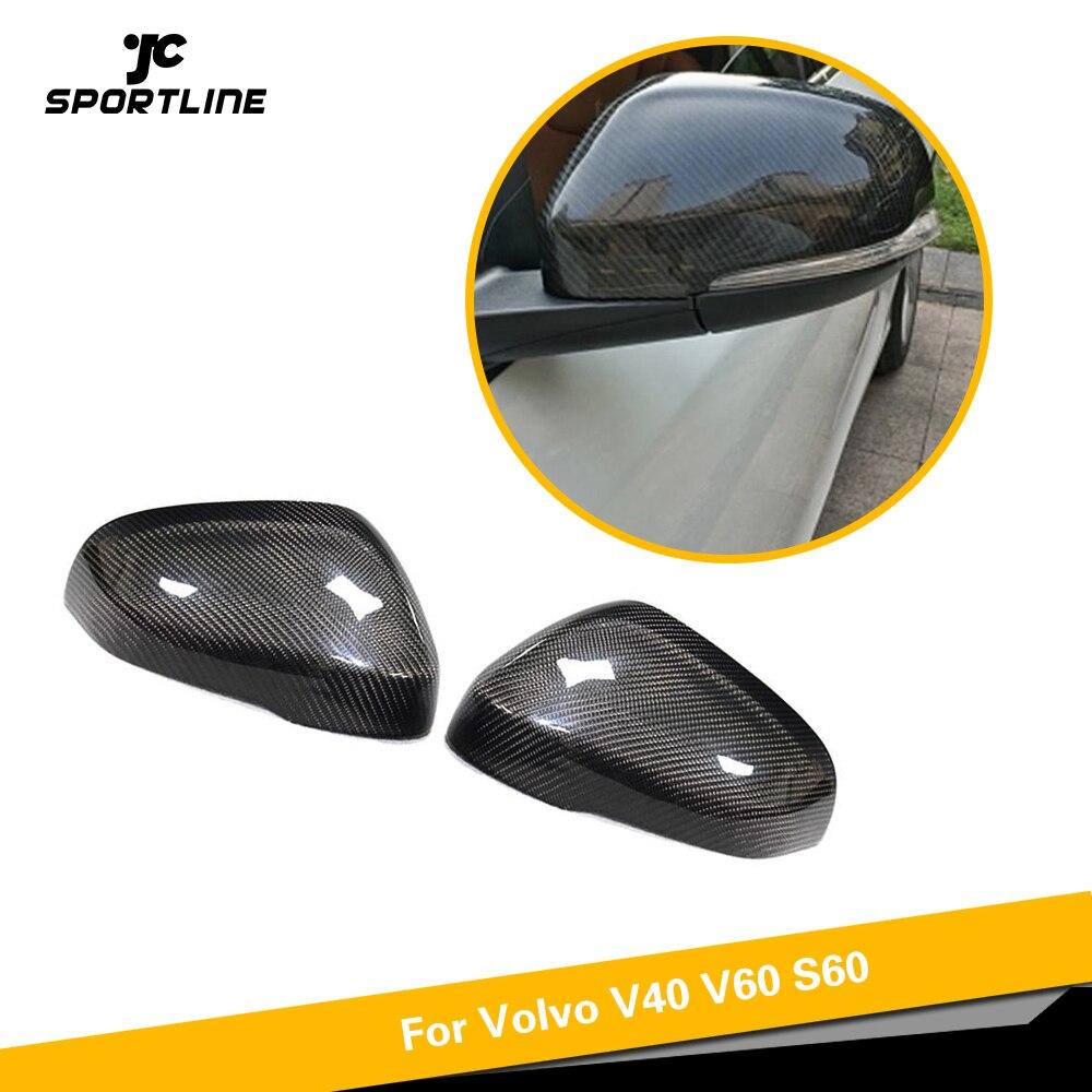 Carbon Fiber Tape-on Mirror Covers for 2010-2016 Volvo S60 V40 V60