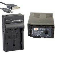 DSTE VW VBG6 Li ion Battery + UDC61 USB Port Charger for Panasonic AG HMC43MC AG HMC73MC AG HMC155 AG HMC83MC Camera