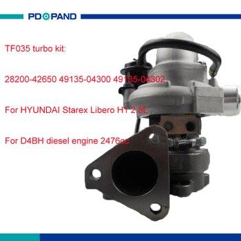 TF035 터보 충전기 키트 과급기 Starex Libero H1 D4BH 2476cc 49135-04300 49135-04302 336000 127792