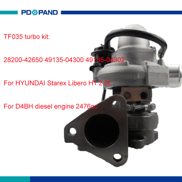 Tf035 Turbo Charger Kit Electric Supercharger For Hyundai Starex Libero H1 D4bh 2476cc 49135 04300