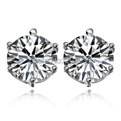 Free shipping,Fashion fancy Jewelry,925 pure silver,Swiss crystal stud earring,quality goods,men/women's,a pair on sell,Gift