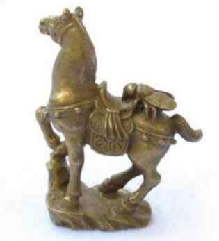 Küçük bronz at heykeli koleksiyonu hemen sinek heykeli