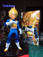 Dragon Ball Z Action Figures Original SCultures Vegeta Super Saiyan 170MM Anime Dragon Ball Z DBZ Collectible Model Toy SC01