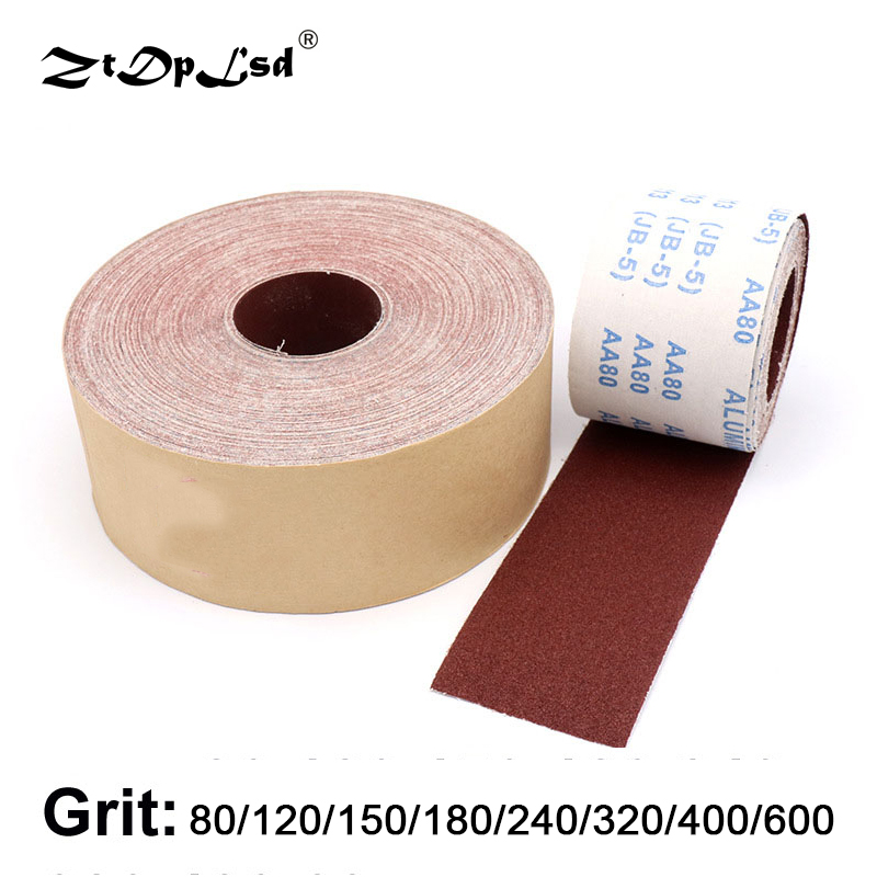 ZtDpLsd 50cm Emery Cloth Roll Polish Sandpaper Tools For Grinding Metalworking Dremel Maroon Sanding Screen Abrasive Paper